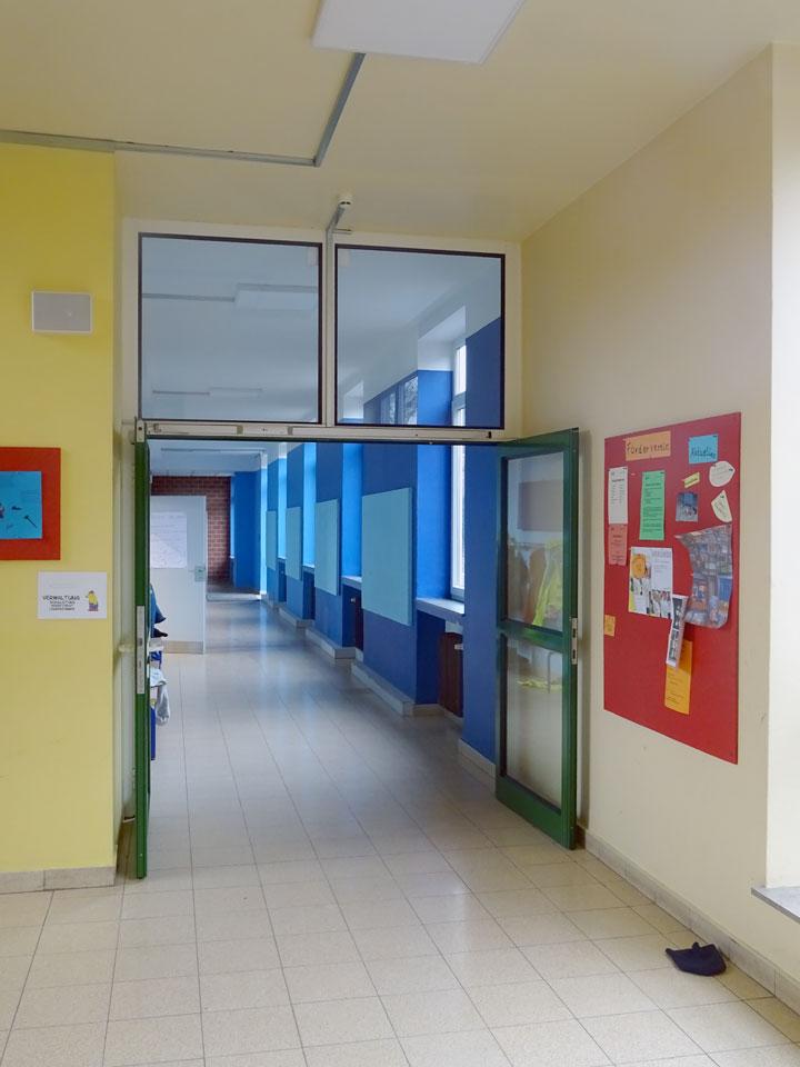 Flur vor Klassenräumen