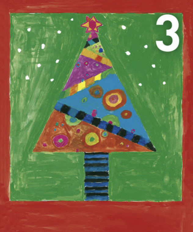 Gemälde Adventskalennder 3. Dezember