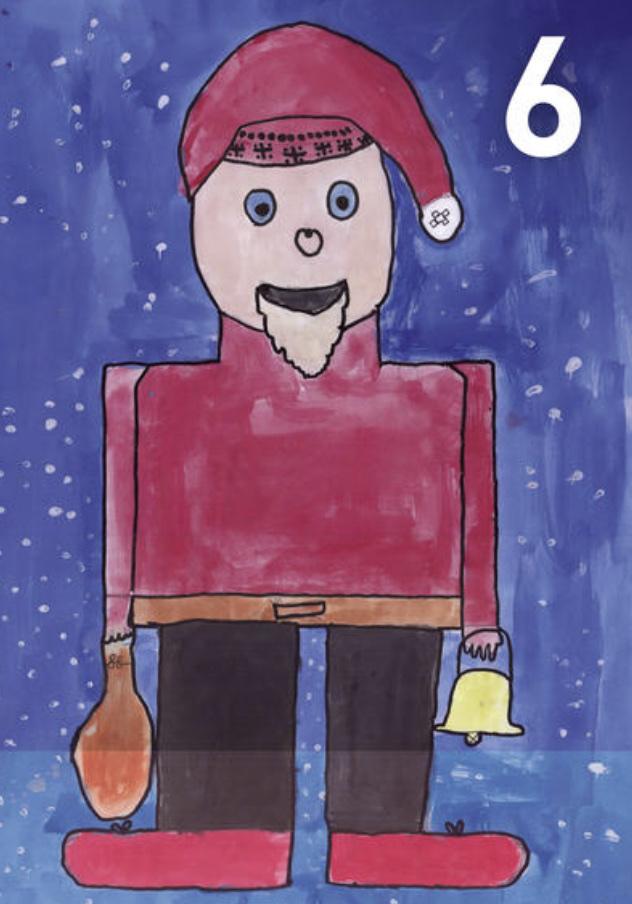 Gemälde Adventskalennder 6. Dezember