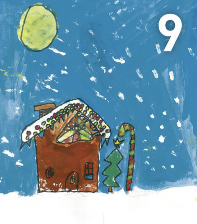 Gemälde Adventskalennder 9. Dezember