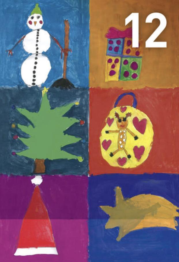 Gemälde Adventskalennder 12. Dezember