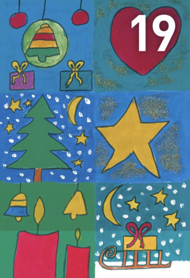 Gemälde Adventskalennder 19. Dezember